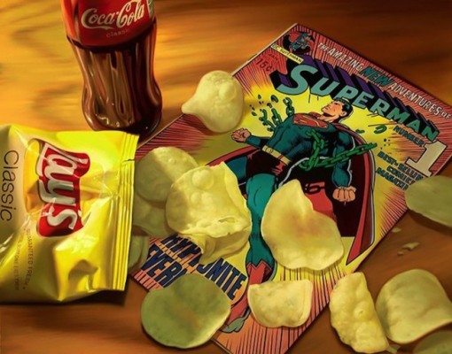 Hyper_Realistic_Paintings_Of_Old_School_Snacks_And_Comics_2014_02-650x510