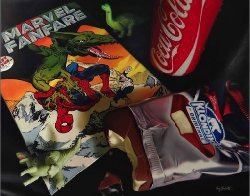 Hyper_Realistic_Paintings_Of_Old_School_Snacks_And_Comics_2014_06-650x510