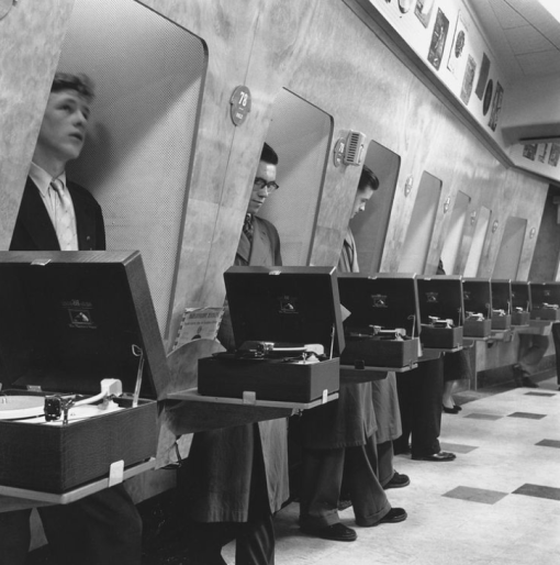 London music shop, 1960s