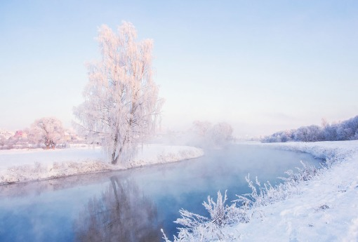 Fairy winter dawn