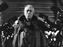 Swedish actor Max von Sydow stars as Chief Justice Fargo in the dystopian sci-fi film 'Judge Dredd', 1995. (Photo by Richard Blanshard/Getty Images)